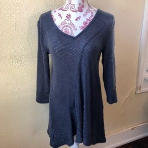 DKNY Jeans Oversized Tunic S Slate Blue/Grey